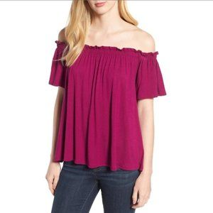 Bobeau Off The Shoulder Top Size Small